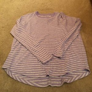Aerie Purple Striped Shirt